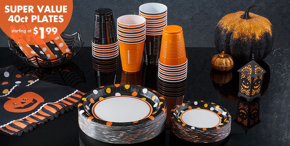Polka Dot Halloween Party Supplies