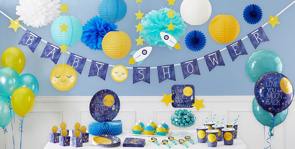 Moon & Stars Baby Shower Party Supplies