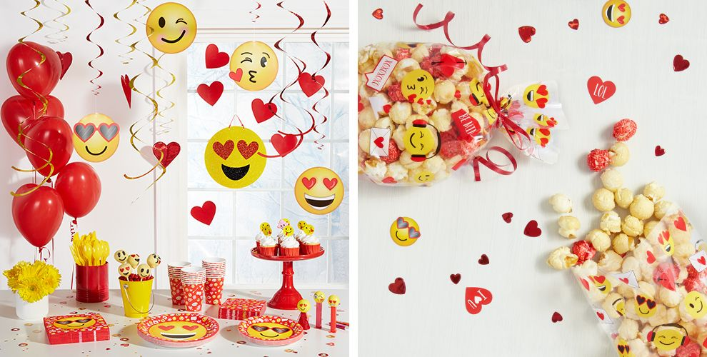 Smiley Valentine's Day Party Supplies 50% off Patterned Tableware MSRP