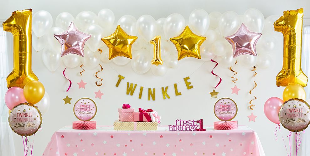 Pink Twinkle Twinkle Little Star Gender Neutral 1st Birthday Party