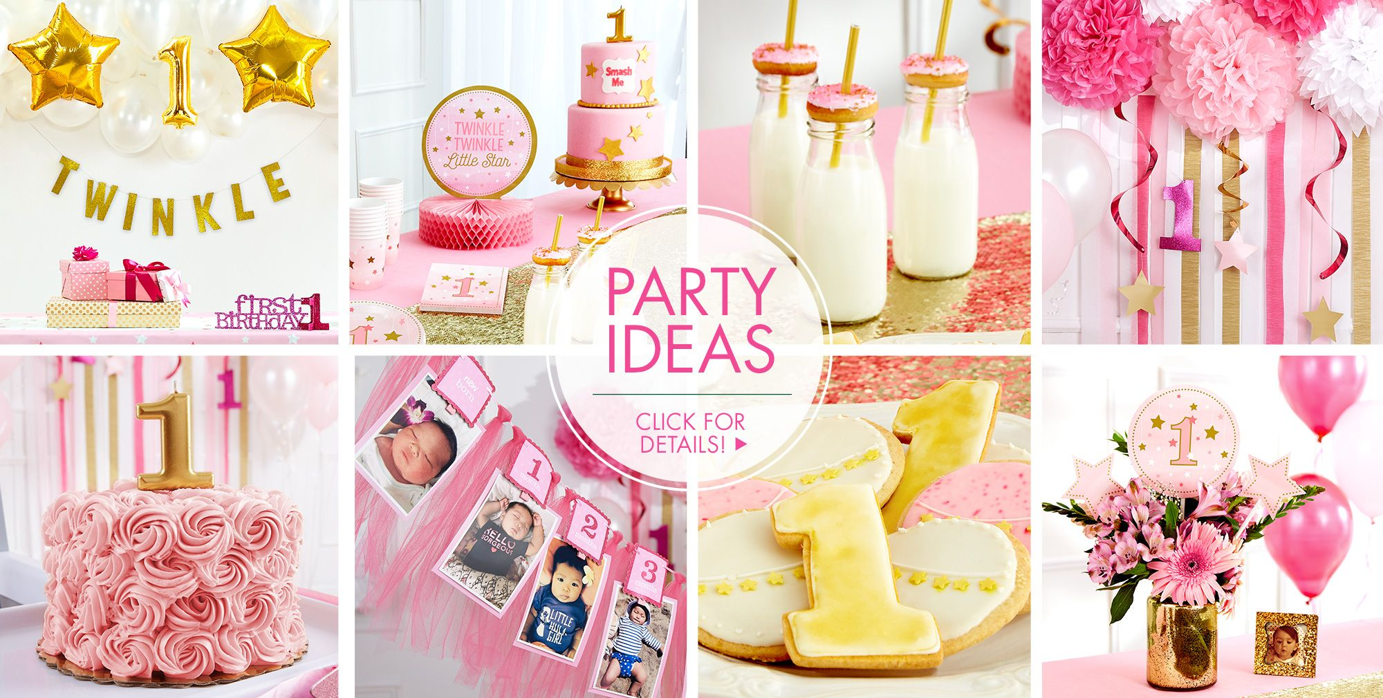 Twinkle Girl 1st Birthday Party Ideas