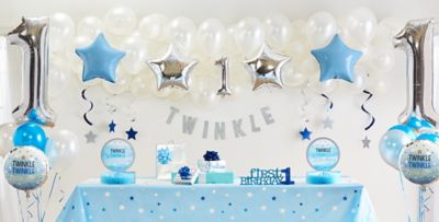 Blue Twinkle Twinkle Little Star GenderNeutral 1st Birthday Party