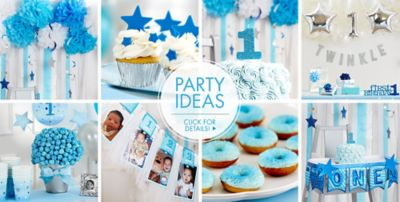 Blue Twinkle Twinkle Little Star GenderNeutral 1st Birthday Party