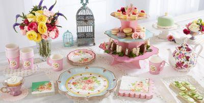 Floral Tea Party Supplies ... & Floral Tea Party Supplies - Pastel u0026 Floral Tableware | Party City