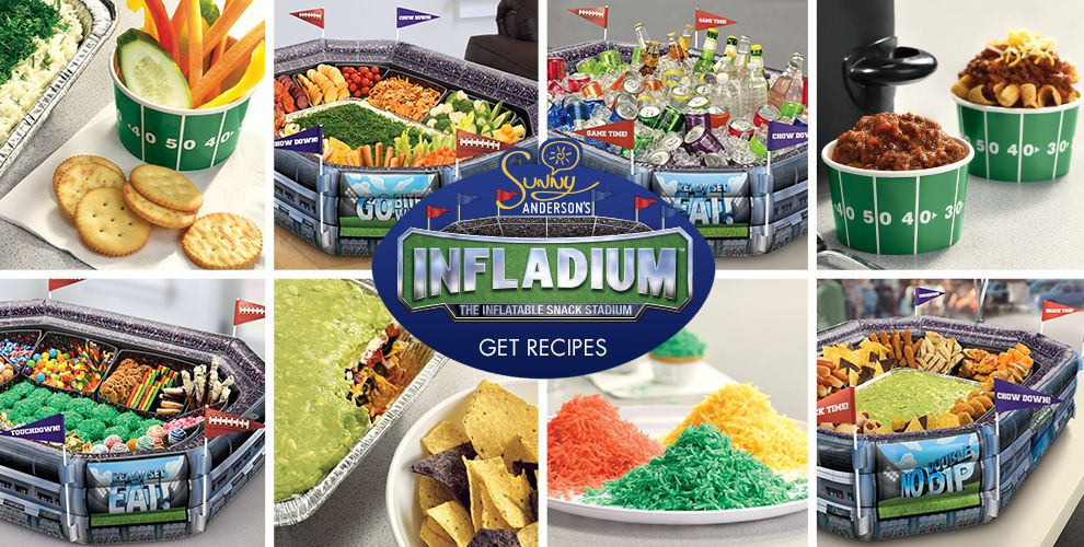 Infladium Football Snack Stadium the New Way to Buffet – Party Ideas, Click For Details!