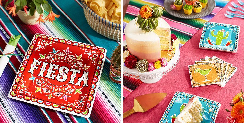 Papel Picado Cinco de Mayo Party Supplies — Patterned Tableware 50% off MSRP