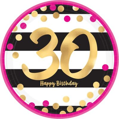 Superb 30Th Birthday Party Supplies Decorations Ideas Party City Birthday Cards Printable Opercafe Filternl