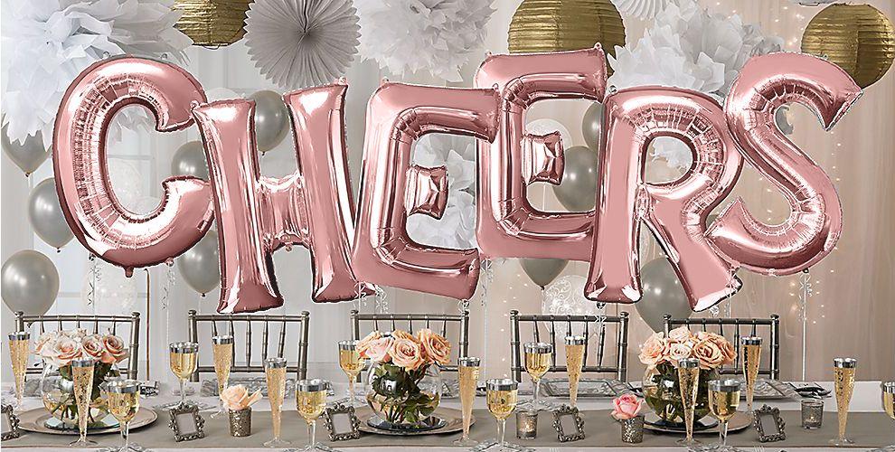 Giant Rose Gold Letter Balloons