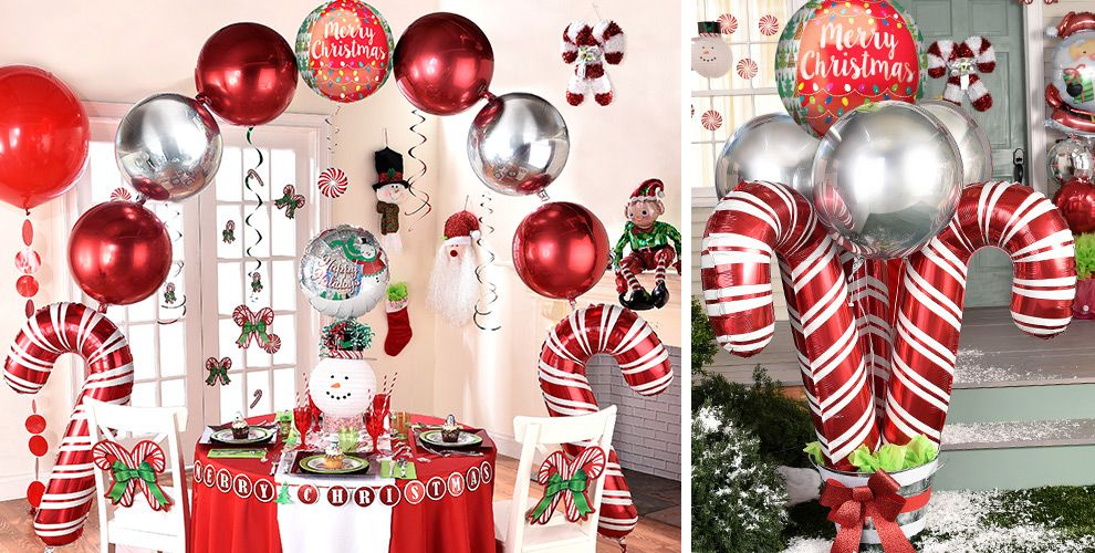 christmas balloons christmas balloon bouquets and. Black Bedroom Furniture Sets. Home Design Ideas