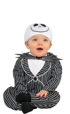 Jack Skellington pretied Tie for kids boy toddler or baby Sizes 6-8 Yrs