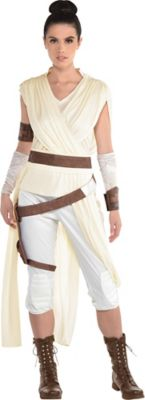 Rey Costume For Adults Star Wars 9 The Rise Of Skywalker Party City