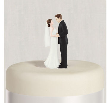 Wedding cake toppers monogram funny cake toppers party city brunette bride groom wedding cake topper junglespirit Images