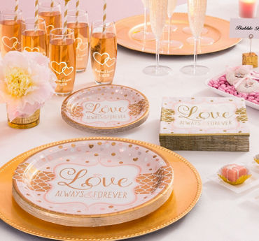 Sparkling Pink Wedding Party Supplies