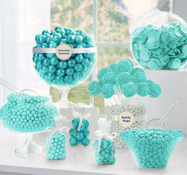Robin S Egg Blue Candy Buffet