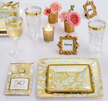 Wedding anniversary party supplies invitations decorations golden 50th anniversary party supplies junglespirit Gallery