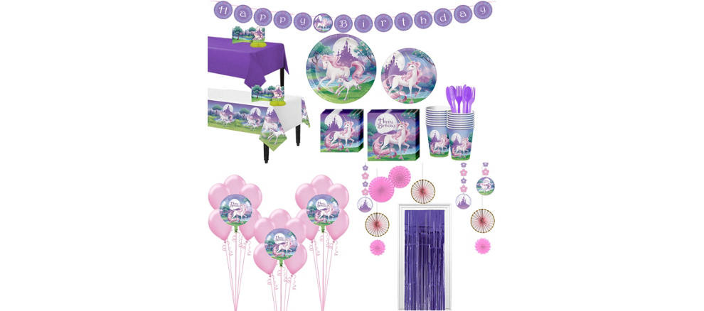 Unicorn Tableware Ultimate Kit For 16 Guests