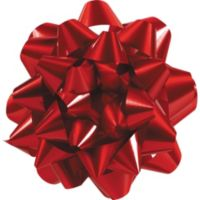 Smiley balloon gift bow 6in party city red gift bow negle Gallery