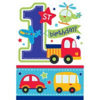 All aboard 1st birthday party supplies 1st birthday party all aboard 1st birthday invitations 8ct stopboris Images