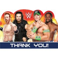 Wwe party supplies wwe birthday party city wwe thank you notes 8ct bookmarktalkfo Image collections