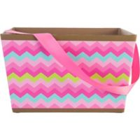 Neighbor easter basket idea party city party city pink chevron square easter basket negle Images