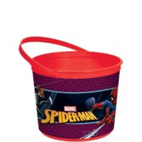 Build your own spiderman easter basket party city easter baskets spider man webbed wonder favor container negle Images