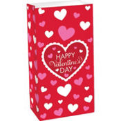 happy valentines day treat bag
