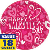 bright valentines day party supplies