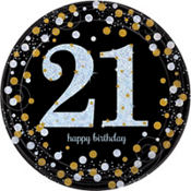 21st birthday supplies party city sparkling celebration 21st birthday party supplies stopboris Image collections