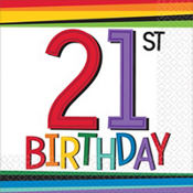 21st birthday supplies party city rainbow 21st birthday party supplies stopboris Image collections