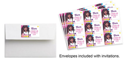 custom barbie invitations party city