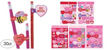 valentines day sticker tags 30ct