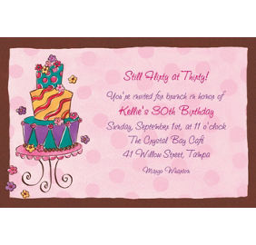 Custom girly cake birthday invitations thank you notes party city custom girly cake birthday invitations filmwisefo