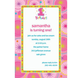 Custom one derful girl 1st birthday invitations thank you notes custom one derful girl 1st birthday invitations stopboris Gallery