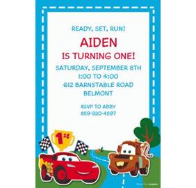 Custom cars 1st birthday invitations party city custom cars 1st birthday invitations stopboris Gallery