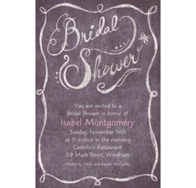 Custom chalkboard bridal shower invitations party city custom chalkboard bridal shower invitations filmwisefo Choice Image