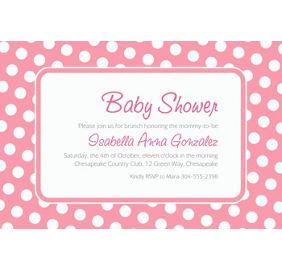 Custom Pink Polka Dot Invitations