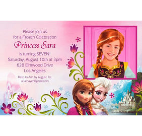 Frozen invitations 8ct party city custom frozen photo invitations stopboris Gallery