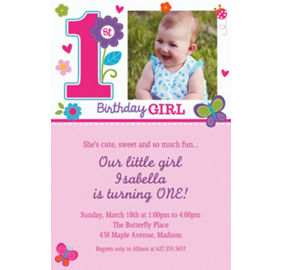 Custom sweet birthday girl invitations party city custom sweet birthday girl photo invitations filmwisefo