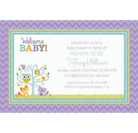 Custom woodland welcome baby shower invitations thank you notes custom woodland welcome invitations filmwisefo Choice Image