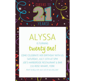 Custom brilliant 21st birthday invitations thank you notes party custom brilliant 21st birthday invitation filmwisefo Gallery