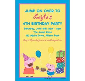 Custom peppa pig invitations thank you notes party city custom peppa pig invitation filmwisefo Images