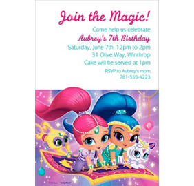 Custom shimmer and shine invitation custom print invitations custom shimmer and shine invitation stopboris