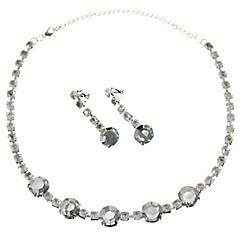 Faux Rhinestone Jewelry Set