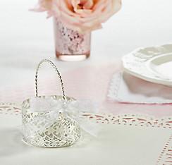 Silver Wedding Favor Basket