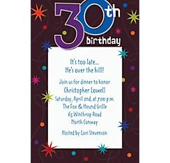 30th 35th birthday invitations party city custom the party continues 30th birthday invitations stopboris Choice Image