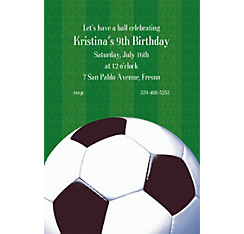 Custom soccer invitations party city custom soccer fan invitations filmwisefo