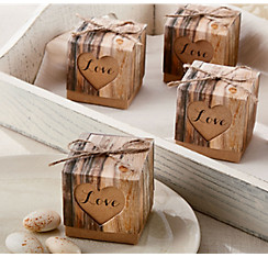 Rustic Tree Favor Bo