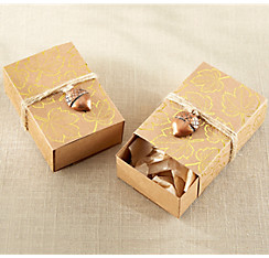 Fall wedding favors party city metallic gold leaf favor boxes 24ct junglespirit Image collections