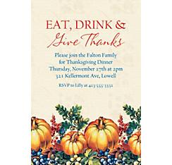 custom thanksgiving invitations party city