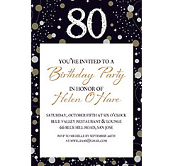80th 110th birthday invitations party city